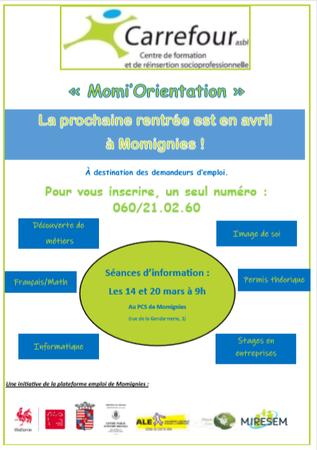 """""""Momi'Orientation"""", une formation à destination des demandeurs d'emploi."""